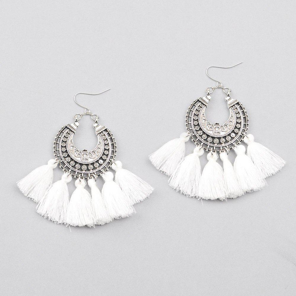 Tassel Earrings For Women Ethics Bohemian Boho Style Short Tassels Earrings Jewelry Vintage Statement