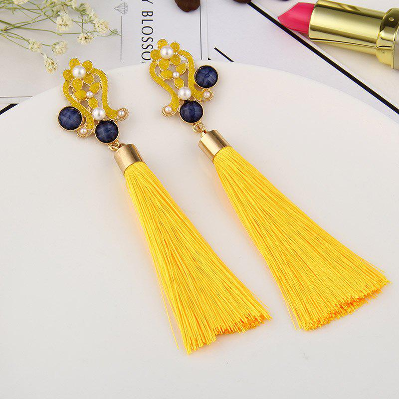 2017 Gold Earrings Bohemia Silk Tassel Earrings Long Drop Earrings for Women Wedding Party Jewelry Earring Accessories