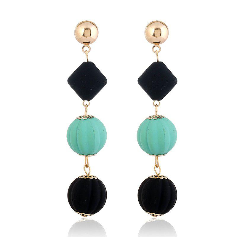 New Design Acrylic Cute Lantern Ball Earrings Brand Classic Statement Black Diamond Slices Earrings For Women Jewelry