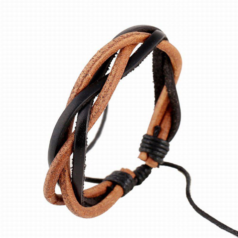 Vintage Leather Bracelet Hand Woven Durable Bangle Charm Jewelry