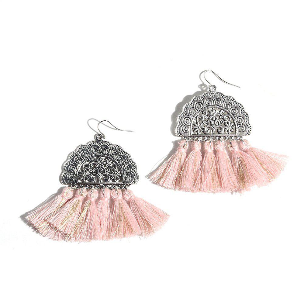 Vintage Handmade Cotton Bohemia Tassel Earrings for Women Ethnic Round Fringe Drop Earrings Party Dangle Earring