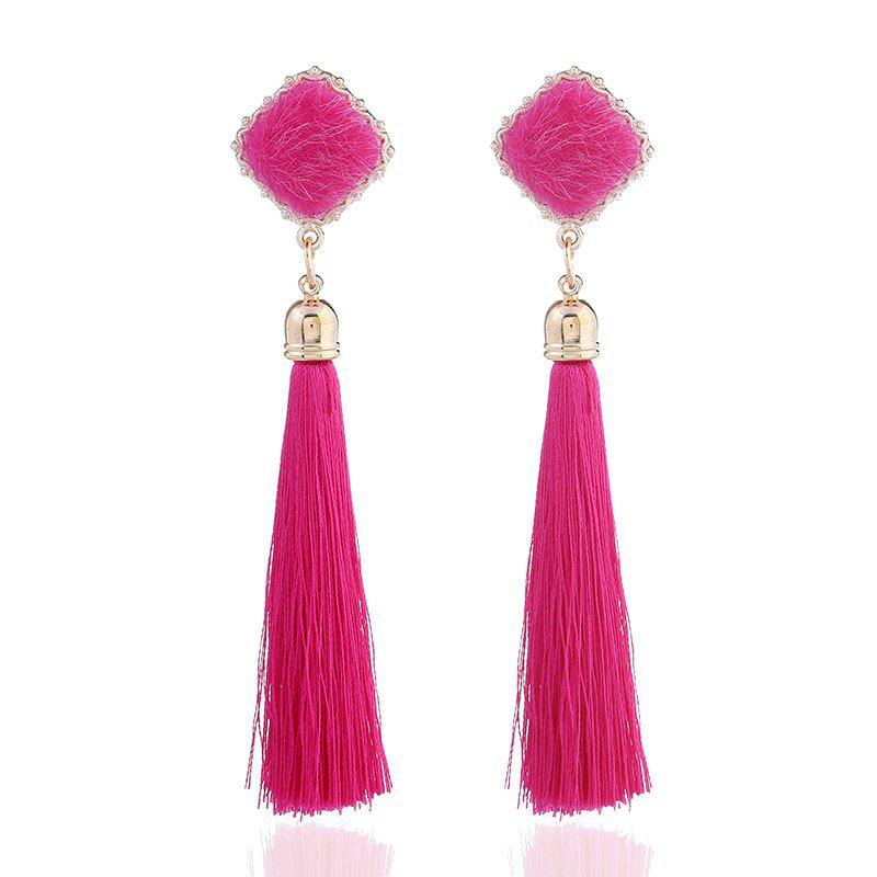 2018 New Design Acrylic Cotton Earrings Classic Long Tassel Dangle Earrings For Women Pendant Earrings Statement Jewelry