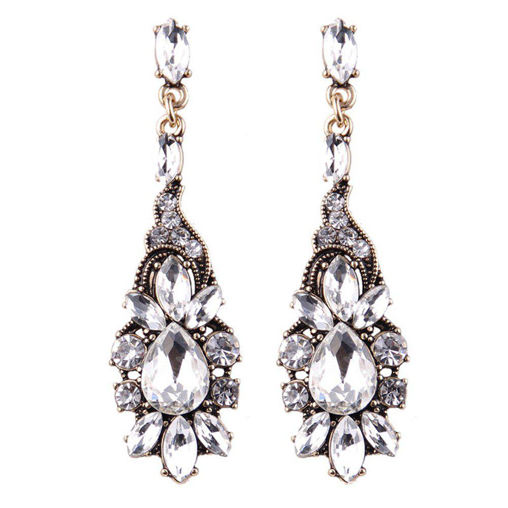 Chandelier Crystal Long Earrings for Women Rhinestone Hanging Earrings Bridal Wedding Jewelry