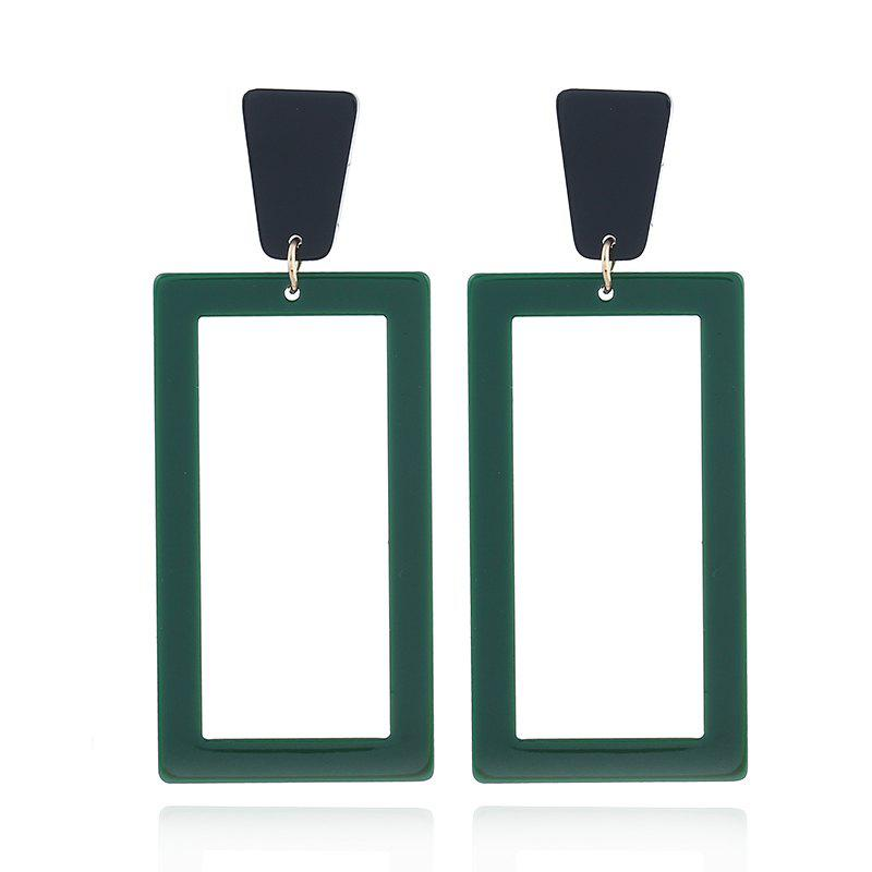 2018 New Fashion Acid Acrylic Earrings Classic Dangle Square Earrings for Women Long Pendant Earrings Statement Jewelry