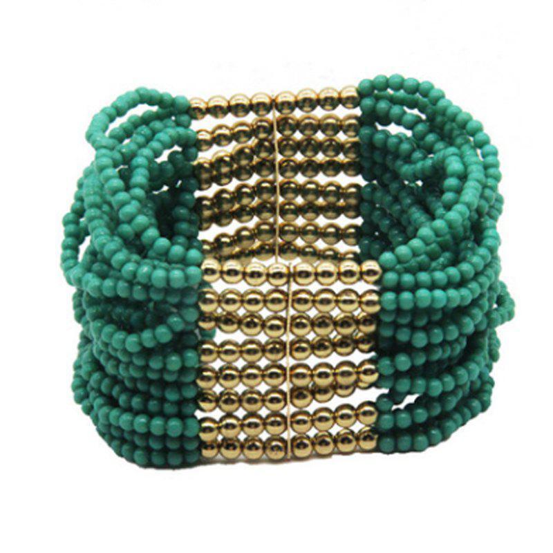 New Design Hot Sale 2017 Bead Jewelry Bohemia Multilayer Bead Handmade Stretch Strand Bracelet for Women 252871801