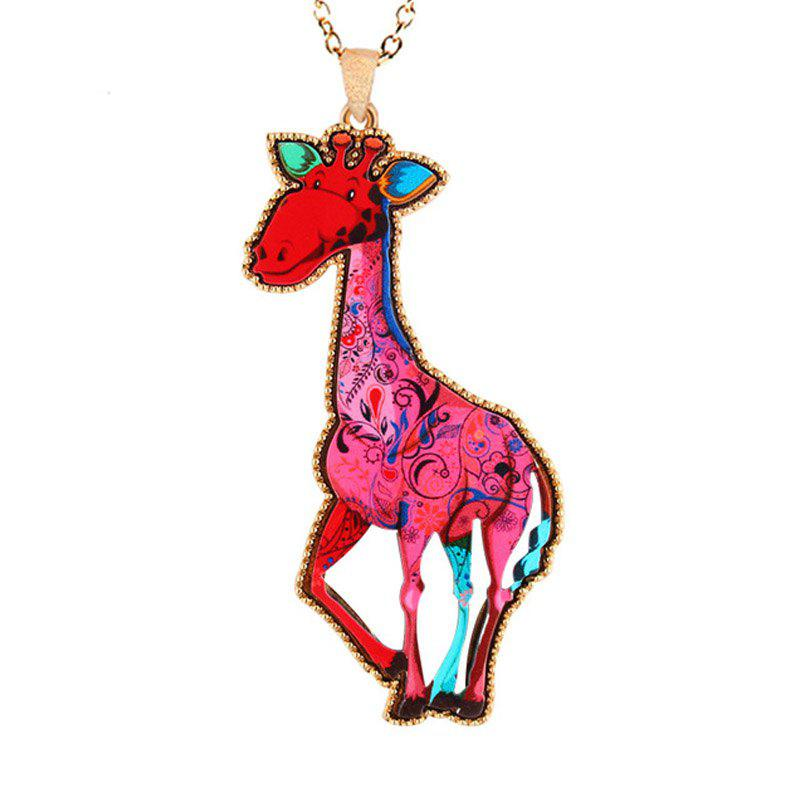 Classic Cartoon Animal Style Brand New Fashion Jewelry Giraffe Link Chain Pendants Necklaces For Gifts Of Kids