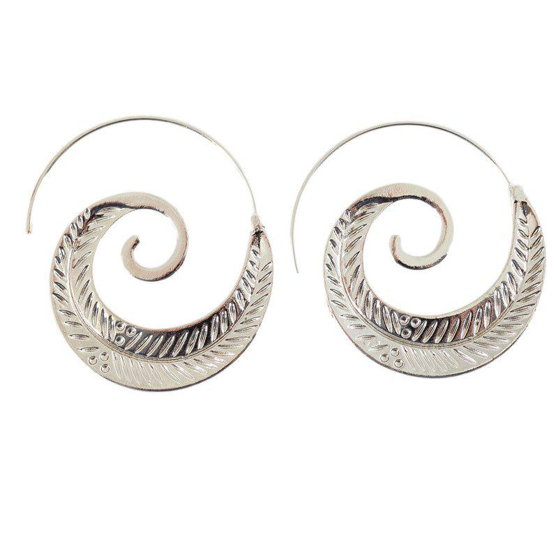 Punk Round Gypsy Tribal Spiral Earrings Spiral Gear Shaped Ear Jewelry Fashionable Personality Earrings For Women