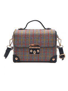 Grid Handbag Ladies' Single Shoulder Bag - Gray