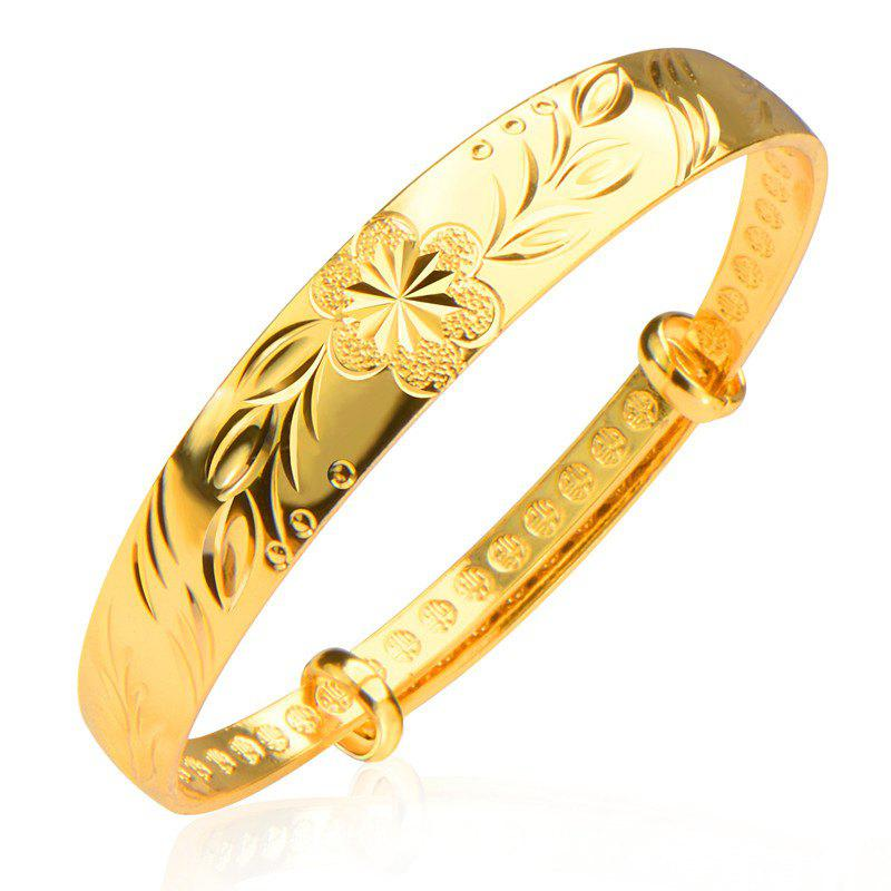 Flowers Luxury Fashion jewelry Bangle 18k Gold Beautiful jewelry Gifts BR70095