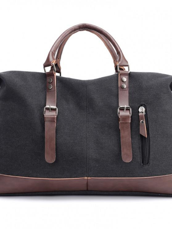 buy New Canvas Slanted Shoulder Sports Men's Bags - BLACK 50 X 22 X 37