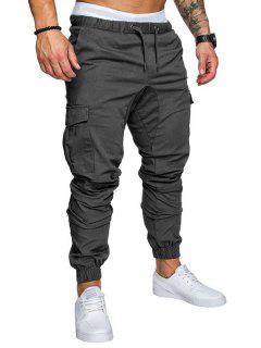 Leisure Tethers Elastic Pants Men's Trousers - Gray M