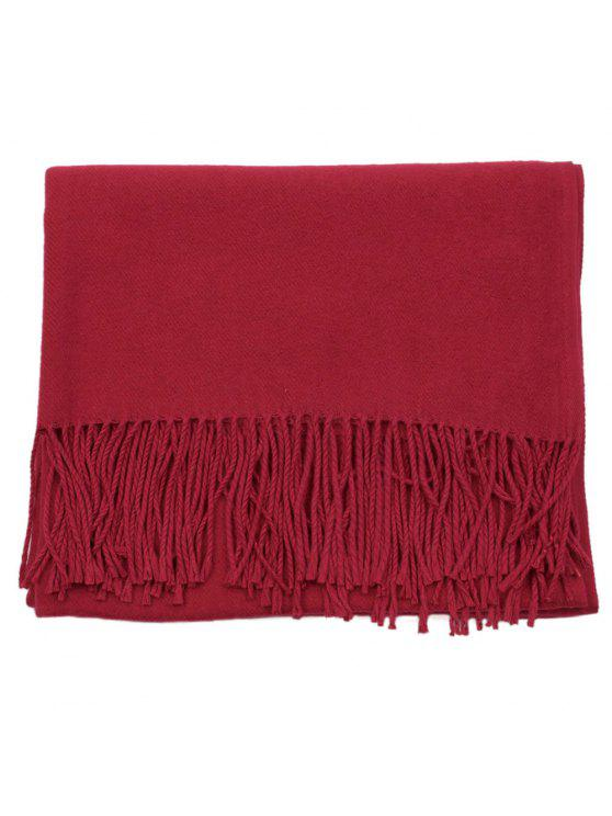 chic Women Winter Warm Scarf Thick Cashmere Pashmina Shawl - CHILLI PEPPER