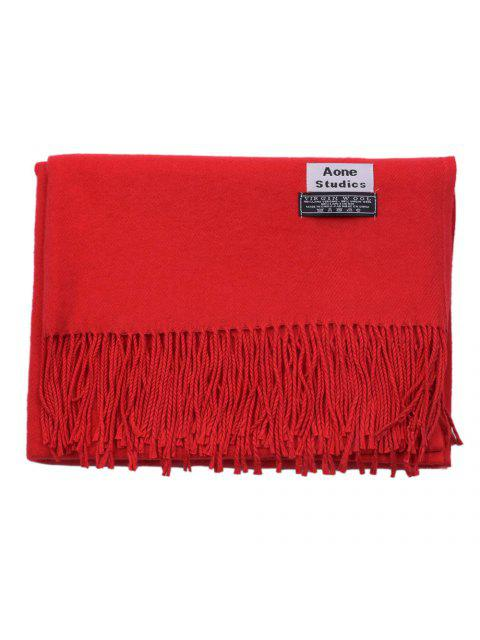 fancy Women Winter Warm Scarf Thick Cashmere Pashmina Shawl - RED  Mobile