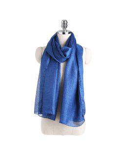 Châle De Couleur Unie écharpe En Mousseline De Soie - Bleu Foncé Toile De Jean