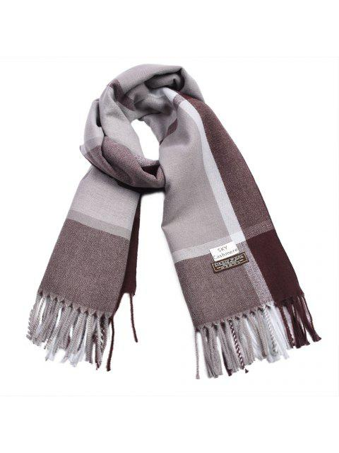 fashion Women Cashmere Scarf Plaid Blanket Ladies Thicken Warm Pashmina - MULTI-E  Mobile
