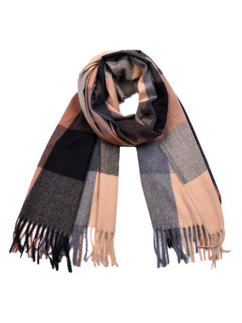 Foulards teints en fil de laine Pashmina Plaid Tassel Foulards en cachemire - Multi-B  Mobile