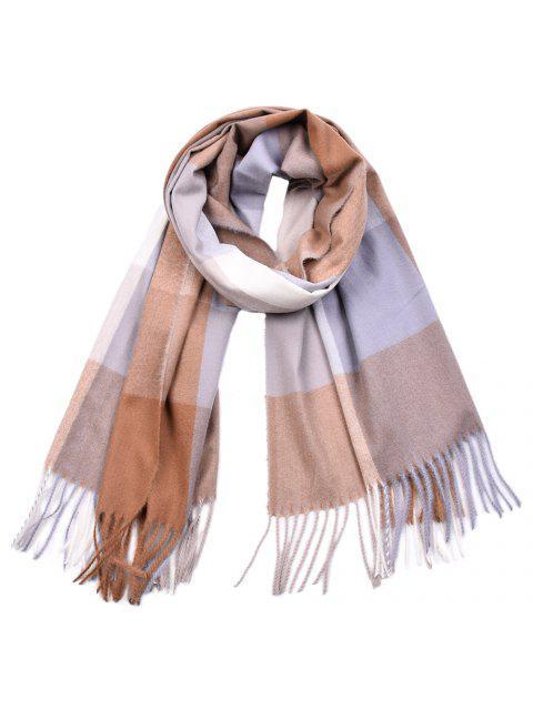 sale Women Yarn Dyed Shawls Pashmina Plaid Tassel Cashmere Scarves - MULTI-C  Mobile