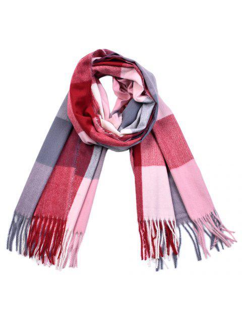 women Women Yarn Dyed Shawls Pashmina Plaid Tassel Cashmere Scarves - MULTI-G  Mobile
