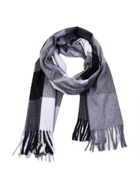 Chalinas teñidas hilados de las mujeres Chaquetas de la cachemira de la borla de la tela escocesa de Pashmina - Multicolor-I  Mobile