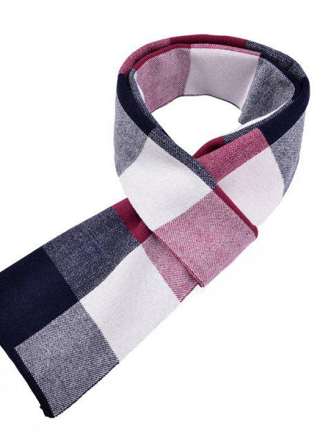 Homens Cashmere British Wind Warm Thickened Scarf - Vinho Tinto  Mobile