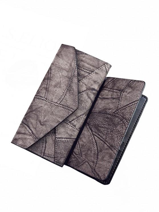 affordable Fashion PU Long Ladies Wallet Two-Piece Clutch Bag Card Package - GRAY REGULAR