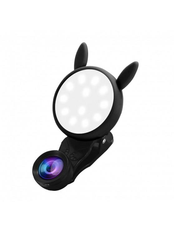 new Portable Flash Phone Selfie Ring Fill Light Camera Adjustable LED - JET BLACK