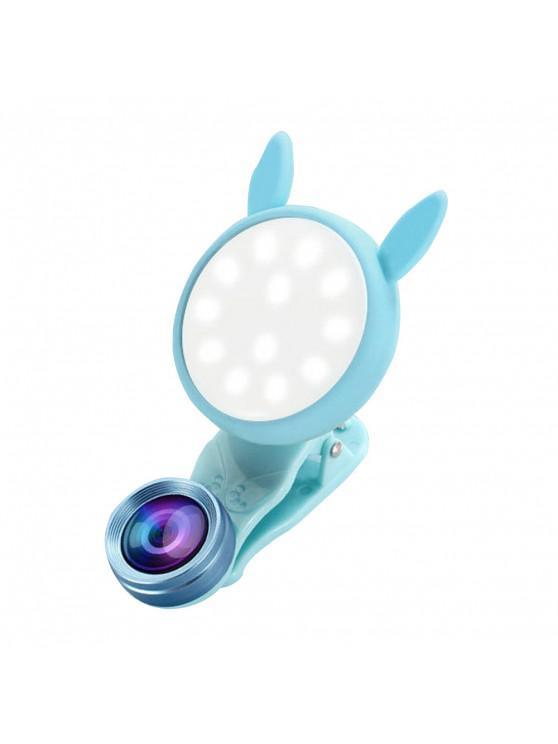 hot Portable Flash Phone Selfie Ring Fill Light Camera Adjustable LED - DAY SKY BLUE