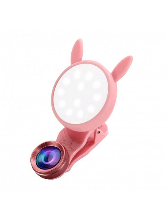 outfit Portable Flash Phone Selfie Ring Fill Light Camera Adjustable LED - PINK