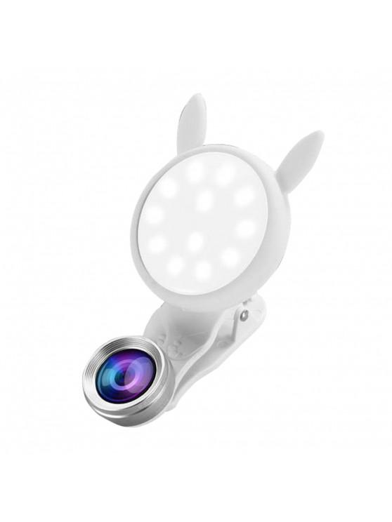 outfits Portable Flash Phone Selfie Ring Fill Light Camera Adjustable LED - WHITE