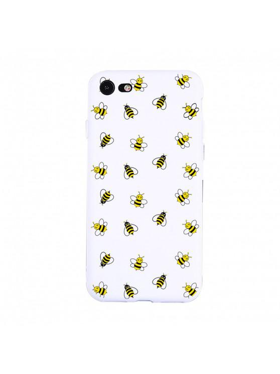 women A Group of Bees Candy White Protective Flexible Case for iPhone7/8 - WHITE