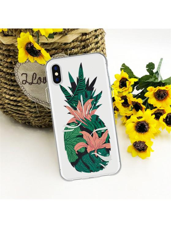 sale Flexible Pineapple Thickened TPU Wear Proof Soft Protective case for iPhone X - MULTI