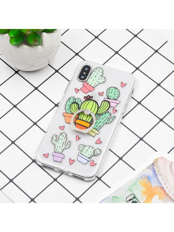 fancy Tropical Fruit Plant TPU Protective Soft Case for iPhone X and The Same Holder - MULTI-B