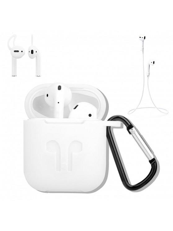 sale Earphones Protective Case Kit for AirPods Kit 4 In 1 Anti-Lost Stylish Cover - WHITE
