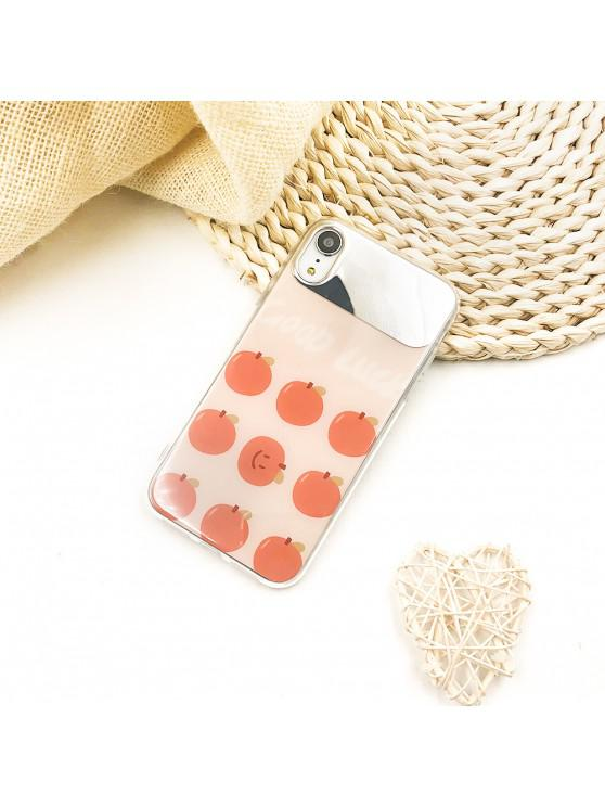 shop Red Berry Mirror Pattern Protective Phone Case for iPhone XR - MANGO ORANGE