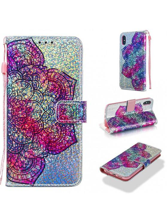best Luxury Glitter Leather Card Wallet Flip Phone Case for iPhone X / XS - MULTI-F