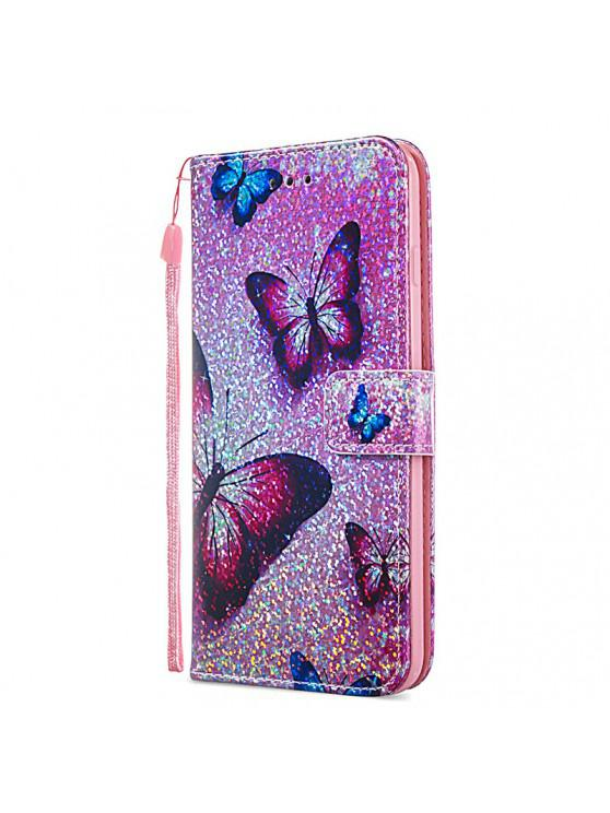 chic Luxury Glitter Leather Card Wallet Flip Phone Case for iPhone 6 Plus / 6S Plus - MULTI-A