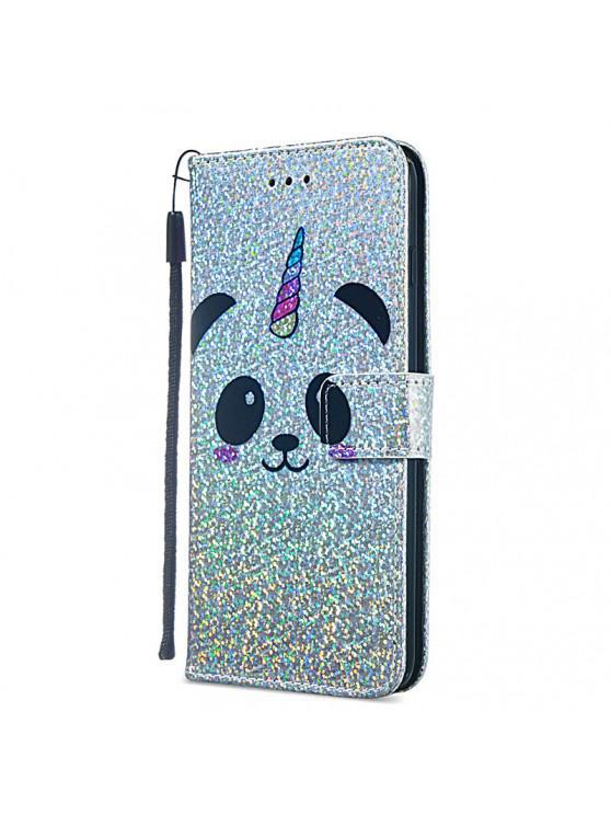 fancy Luxury Glitter Leather Card Wallet Flip Phone Case for iPhone 6 Plus / 6S Plus - MULTI-B