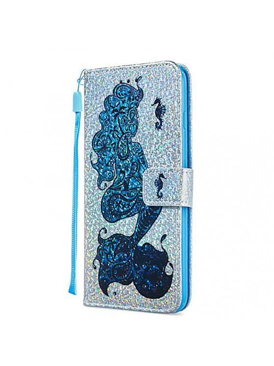 unique Luxury Glitter Leather Card Wallet Flip Phone Case for iPhone 6 Plus / 6S Plus - MULTI-C