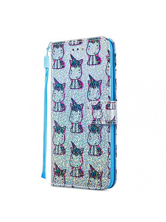 sale Luxury Glitter Leather Card Wallet Flip Phone Case for iPhone 6 Plus / 6S Plus - MULTI-D