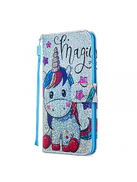 affordable Luxury Glitter Leather Card Wallet Flip Phone Case for iPhone 6 Plus / 6S Plus - MULTI-E