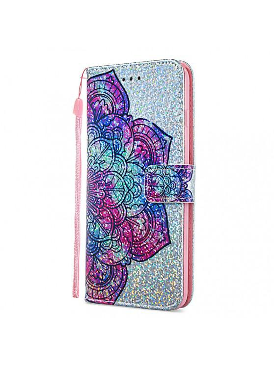 buy Luxury Glitter Leather Card Wallet Flip Phone Case for iPhone 6 Plus / 6S Plus - MULTI-F