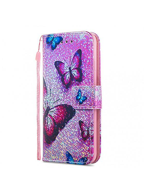 online Luxury Glitter Leather Card Wallet Flip Phone Case for iPhone 6 / 6S - MULTI-C