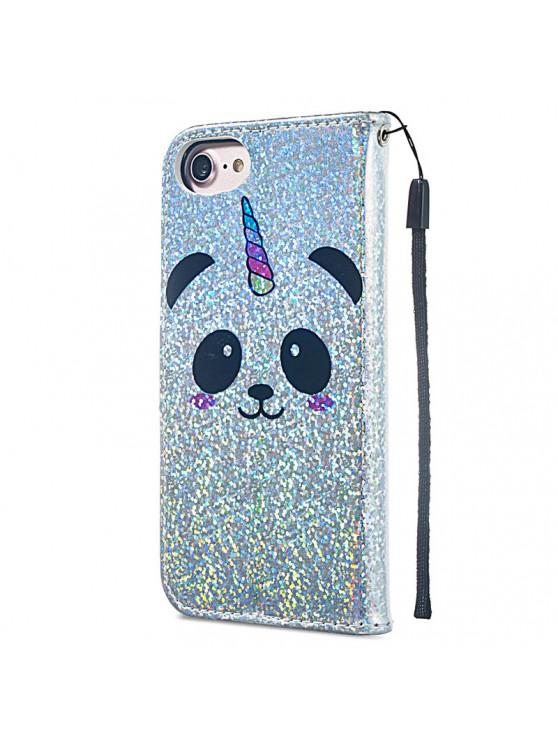 new Luxury Glitter Leather Card Wallet Flip Phone Case for iPhone 6 / 6S - MULTI-D