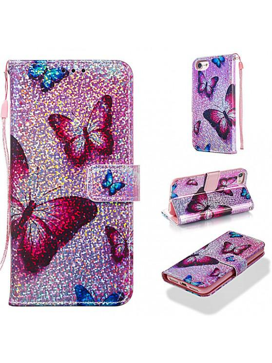 buy Luxury Glitter Leather Card Wallet Flip Phone Case for iPhone 7 / 8 - MULTI-B