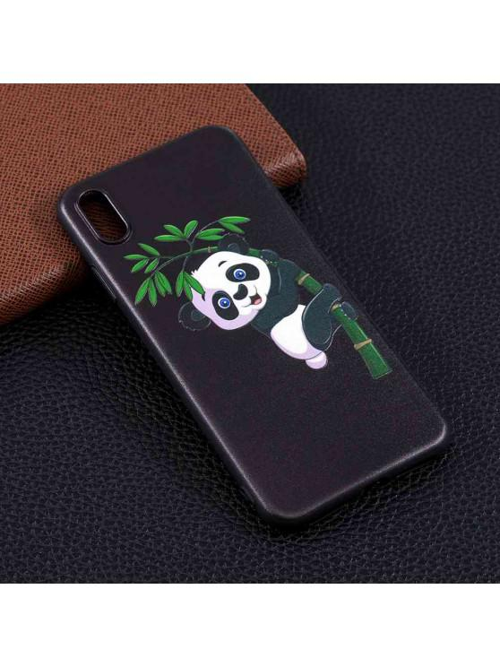 women's Panda Bamboo Painting TPU Phone Case for iPhone Xs Max - MULTI