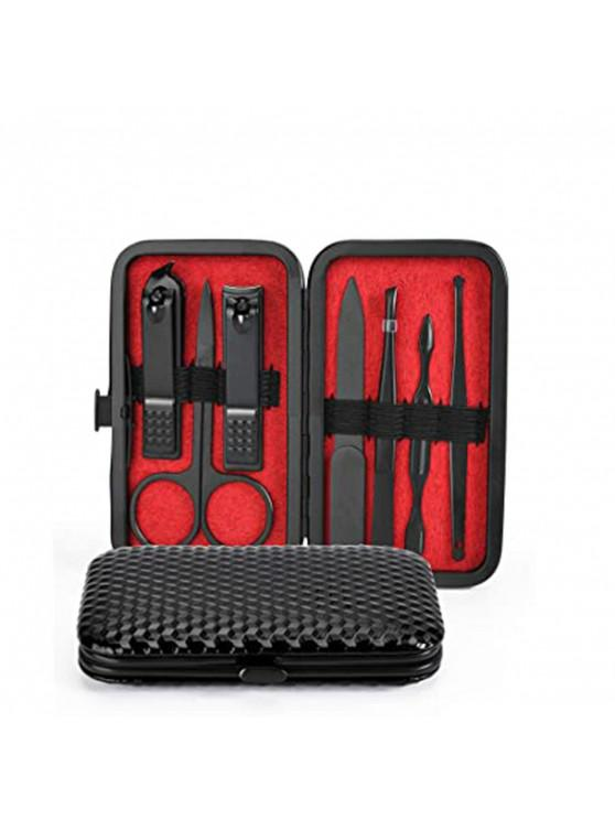 new 7Pcs/set Stainless Steel New Manicure Nail Clippers Pedicure Set - BLACK