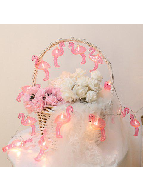 10pcs LED Lumière de Chaîne de Flamants Décoration de la Maison - Rouge Rose  Mobile